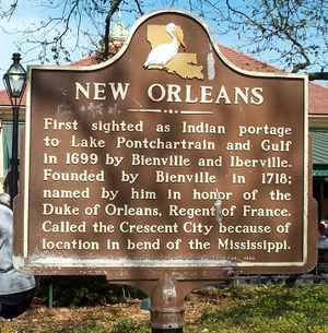 NOLA historical marker